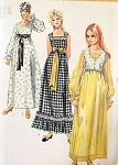 Vintage 70s Maxi Peasant Dress Bolero Pattern Empire Waist Square Neckline Simplicity 9259 Bust 34 Vintage Sewing Pattern  FACTORY FOLDED Kawaii Cute