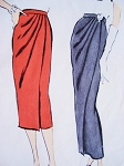 1950s Slim Draped Skirt Day or Evening Length Pattern Vogue 9436 Very Easy to Make Stunning Design Vintage Sewing Pattern FACTORY FOLDED