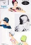 1950s CLOCHE Hat Designer John Frederics VOGUE 9601 Timeless Sophistication Vintage Sewing Pattern FACTORY FOLDED