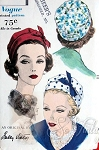 Stylish Sally Victor Hat Pattern Dart Fitted Crown, Soft Rolled Brim Vogue 9922 Vintage Sewing Pattern