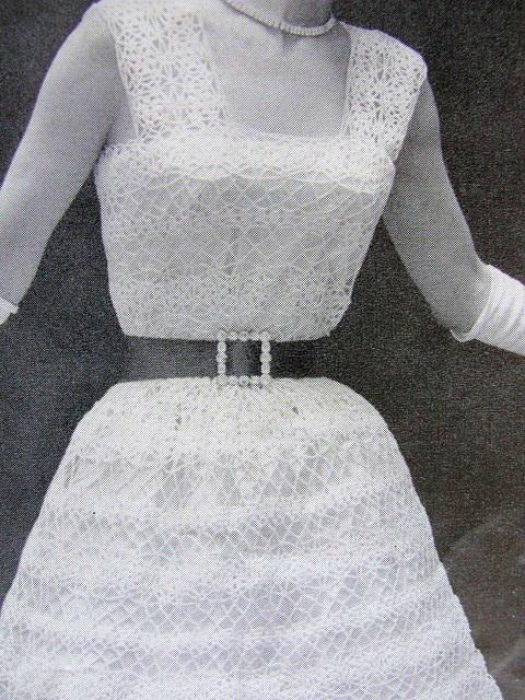 INSTANT PDF PATTERN 1950s Vintage Crochet Pattern Beautiful Lacy Dress Parisien Lace Suitable As