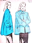 1940s SWING BACK Jacket Coat Pattern ADVANCE 4762 Classy Full Swagger Back 2 Sleeve Styles Bust 30 Vintage Sewing Pattern