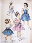 1950s ADORABLE Girls Sundress and Button On Cape Pattern ADVANCE 5523 Size 10 Vintage Sewing Pattern