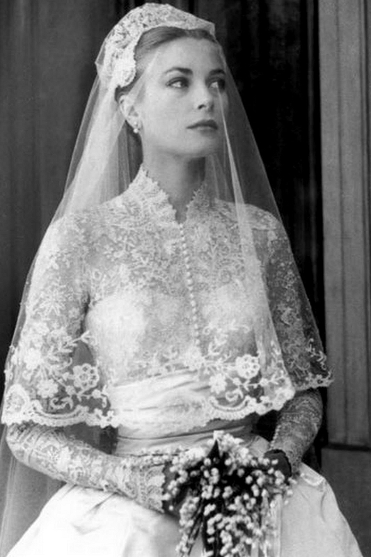 Dreamy And Classic Boxwood Gardens: 1950s BEAUTIFUL Grace Kelly Like Wedding Dress Bridal Gown