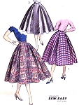 1950s SEW EASY Circle Skirt Pattern ADVANCE 7901 Beautiful Flattering Day or Evening Skirt Waist 26 Vintage Sewing Pattern FACTORY FOLDED