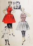 1950s RARE I Love Lucy Apron Pattern Advance 6557 Weskit Apron Features Lucy and Ricky Bust 36 Vintage Sewing Pattern