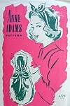 1940s Flirty Hat and Charming Hand Bag Pattern Anne Adams 4776 Vintage Sewing Pattern Swing Era Hat  and Purse Pattern