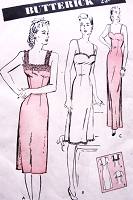 1940s BEAUTIFUL Slinky Slips Lingerie Pattern BUTTERICK 3012 Three Styles Includes Evening Length Perfect To Make As Evening Gown Bust 36 Vintage Forties Sewing Pattern FACTORY FOLDED