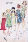 CUTE 60s Girls Shift Dress or Jumper Pattern BUTTERICK 3094 Perfect All Seasons Dress and Head Scarf Bust 32 Vintage Sewing Pattern UNCUT