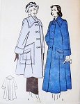 1940s Beautiful Jacket or Coat Pattern BUTTERICK 4706 Swing Back Coat in 2 Lengths Large Pointed Collar Fabulous Pockets High Fashion Design Bust 34 Vintage Sewing Pattern FACTORY FOLDED