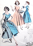 1950s RARE Walk Away Wrap Around Dress Pattern BUTTERICK 8151 Quick n Easy Start In Morning Wear At Lunch Bust 32 Vintage Sewing Pattern FACTORY FOLDED