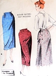 1950s Classy 1 Yard Back Wrap Around Slim Skirt Pattern Butterick 8265 Easy 1 Pattern Piece No Seams Magic To Make Waist 30 Vintage Sewing Pattern