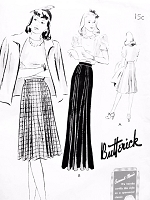 1940s Day or Evening Skirt Pattern BUTTERICK 9311 Fabulous Style Waist 32 Vintage Forties Sewing Pattern FACTORY FOLDED
