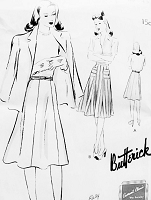 1940s Skirt Pattern Quick n Easy BUTTERICK 9402 Six Gored Skirt Figure Flattering Waist 36 Vintage Forties Sewing Pattern FACTORY FOLDED