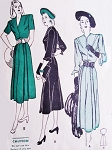 1940s Dress Pattern Butterick 4301 Classy Decorative Dart Detail Dress For Petites Lovely Details Bust 32 Vintage Sewing Pattern