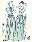 1940s Dreamy Nightgown and Bedjacket Pattern Butterick 4652 Plunging V Neck Corselet Midriff  Bust Quick n Easy Vintage Sewing Pattern Bust 34 FACTORY FOLDED