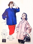 1950s Quick n Easy Coat Jacket  Topper Pattern Butterick 6850 Boxy Style Lovely Wide Cuffs Bust 34 Vintage Sewing Pattern