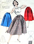 1950s Rockabilly Full Skirt Pattern Butterick 6889 Quick n Easy Skirts 2 Styles Includes Wraparound Back Waist 23 Vintage Sewing Pattern
