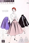 1950s Princess Skirt Day or Evening Pattern Butterick 7081 Quick n Easy 8 Gore Full Skirt  Includes Eye Catching  High Empire Waistline Version Waist 24 Vintage Sewing Pattern UNCUT