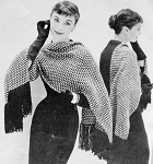 INSTANT PDF PATTERN 1950s Vintage Knitting Crochet Pattern Elegant Tweedy Stole Wrap Scarf Perfect For Day or Evening