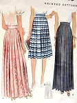 1940 Pleated  Skirt In Two Lengths McCall 3764 Day or Evening Lengths Waist 24 Vintage Sewing Pattern