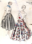 1950 Full Wrap Around Skirt Pattern Advance 5529 Easy To Sew Half Circle Skirt Waist 26 Vintage Sewing Pattern