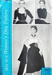 RARE 1950s Party Wardrobe Pattern Womans Day 5047 Full Skirt Cummerbund Belt Three Gorgeous Tops Strapless Bodice, Sleeveless Surplice Blouse and Push Up Sleeve Blouse Amazing Styles Bust 34 VIntage Sewing Pattern