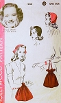 1940s FAB Hats and Bag Purses Millinery Pattern HOLLYWOOD 1246 Featuring Starlet Phyllis Brooks Cloche Hat One Size Vintage Sewing Pattern