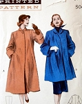 1950s Indispensable Coat or Jacket Pattern Luxurious Cuffs, Pyramid Shape Coat Butterick  6288 Vintage Sewing Pattern Bust 36