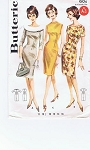 1960s Classy Slim Princess Sheath Dress Pattern Mad Men Office To After 5 Dress 3 Flattering Necklines Figure Show Off Design Butterick 2137 Vintage Sewing Pattern Bust 34