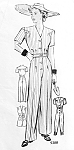1940s  Rosie the Riveter Jumpsuit Pattern WWII Coveralls Swing Shift Goldie Hawn War Time  Playsuit Marian Martin 9388 Vintage Sewing Pattern  Bust 40