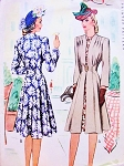 1940s Stunning War Time WW II REDINGOTE COAT McCall 4625 Beautiful Flattering Coat Bust 30 Vintage Sewing Pattern FACTORY FOLDED