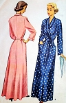 1940s CLASSY Housecoat Robe Lounging Brunch Coat Pattern Classic Style Bust 34 Vintage Sewing Pattern