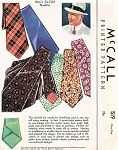 1930s Mens Six Fold NECK TIE Pattern McCall 519 Classy Easy To Make Gentlemens Tie One Size Vintage Sewing Pattern