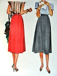 1940s Skirt Pattern McCall 7039 Eight Gore Skirt Classic Style Waist 26 Vintage Sewing Pattern