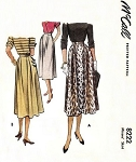 1950 Skirt Pattern McCall 8222 Easy Classy Design Waist 28 Vintage Sewing Pattern