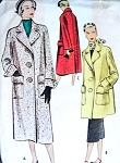 1950s Coat Pattern McCall 8285 Three Styles and 2 Lengths Classy Design Vintage Sewing Pattern