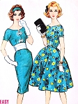 1950s DAZZLING Slim Or Full Skirt and Cummberbund Party Dress Pattern McCALLS 4922 Beautiful Styles Perfect Cocktail Evening Dress Bust 36 Vintage Sewing Pattern