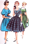1950s  ROCKABILLY  Dress Pattern McCALLS 5107 Three Style Versions Four Gore Skirt Dress  Bust 31.5 Vintage Sewing Pattern