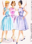 1960s  PRETTY Dress Pattern McCALLS 5359 Three Bodice Styles Back or Side Buttoned Full Skirt Dress Daytime or Party Bust 36 Vintage Sewing Pattern FACTORY FOLDED