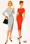 1960s Bombshell Sheath Dress Pattern McCalls 5543 Stunning Design Day or Evening Bust 34 or 38 Easy To Sew Vintage Sewing Pattern FACTORY FOLDED