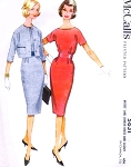 1960 Stylish Slim Dress and Short Jacket Pattern McCALLS 5631 Daytime and After Five Style Bust 36 Vintage Sewing Pattern