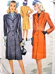 1940s STYLISH  War Time Coat Pattern McCALL 5758 Beautifully Fitted Classic Coat Bust 32 Vintage Sewing Pattern