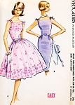 Lovely 1960s Camisole Top Dress Pattern McCALLS 5857 EASY to Sew Slim Sheath or Full Skirt Cocktail Party Dress Bateau Neckline V Back Shoulder Ties Bust 32 Vintage Sewing Pattern