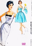 1960s HOT Gina Lollobrigida Slim Sheath or Full Skirt Dress Pattern McCALLS 6316 Cocktail Party Dress Bust 36 Vintage Sewing Pattern