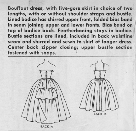 1960s Beautiful Formal Ball Gown or Cocktail Dress Pattern McCALLS ...