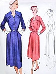 1950s Stylish Dress Pattern McCALLS 8684 Lovely Notched Neckline Sleek Tailored Design Easy Day To Evening Bust 32 Vintage Sewing Pattern FACTORY FOLDED
