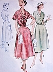 1950s Pretty Afternoon Dress Pattern McCALLS 8942 Two Neckline and Sleeve Styles Pretty Day or After 5 Dress Bust 30 Vintage Sewing Pattern FACTORY FOLDED