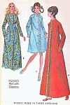 1970s Housecoat Bath Robe Hostess Brunch Coat Pattern McCalls 2696 Three Style Versions Classic Designs Vintage Sewing Pattern FACTORY FOLDED