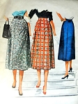 1950s Flared Skirt Pattern Easy To Sew McCalls 3770 waist 34 Vintage Sewing Pattern